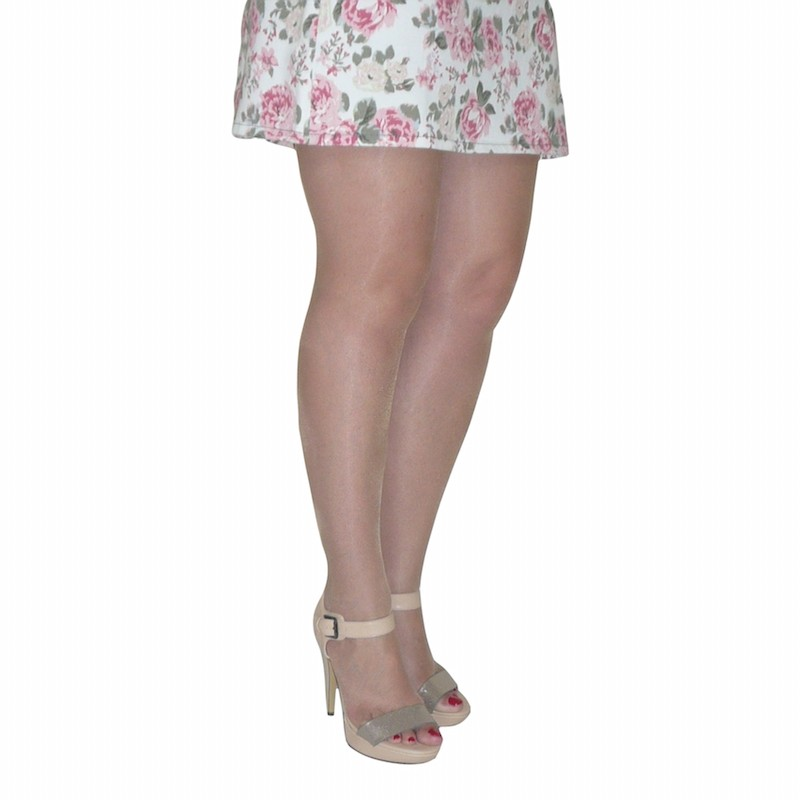 essexee legs plus size open toe tights natural