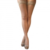 essexee legs 10 denier lace top gloss hold ups natural