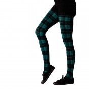 tartan bright green tights