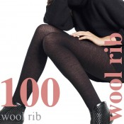 "60% Wool Tights, XTall for heights 5ft7""-6ft1"" in Nero & Mocca"