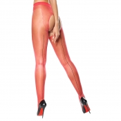 Miss O New Red Seam Open Crotch Pantyhose