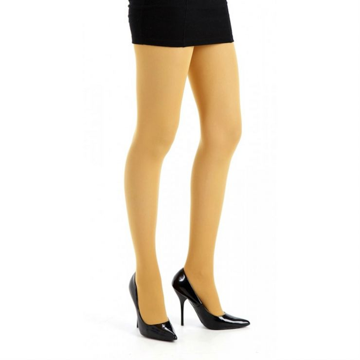 pamela mann 50 denier opaque colour tights mustard