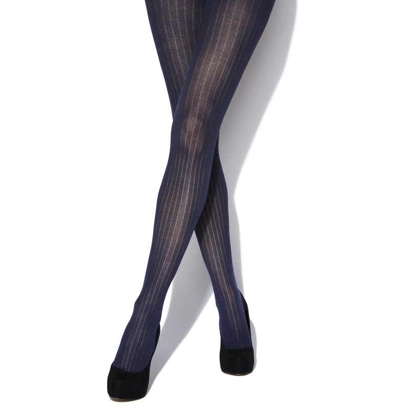 charnos wool rib tights navy