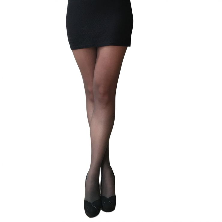 essexee legs 15 denier light leg support tights barely black