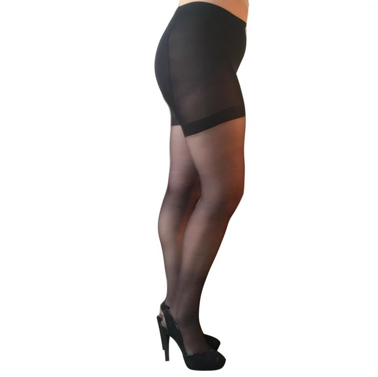 essexee legs 15 denier plus medium support tights