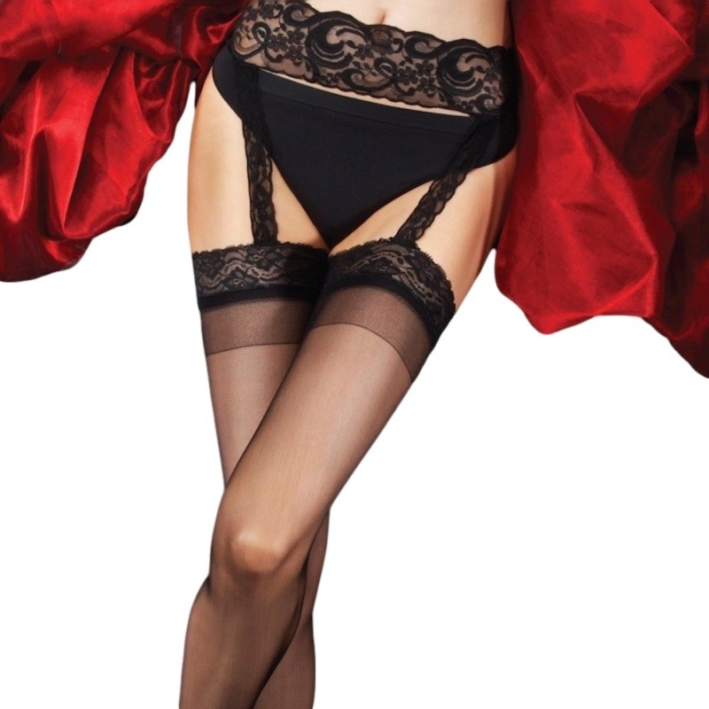charnos boudoir all in one lace suspender tights