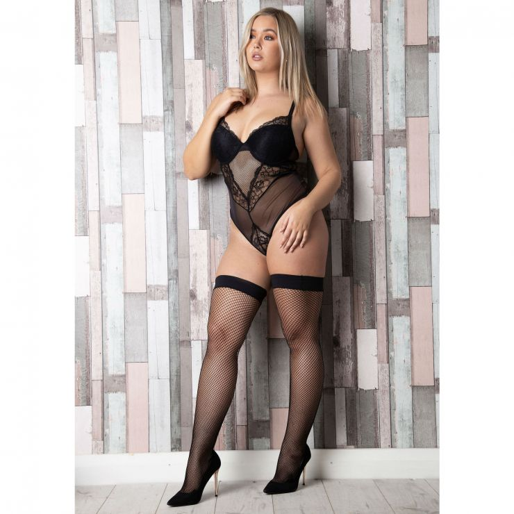 elegant moments fishnet hold ups queen