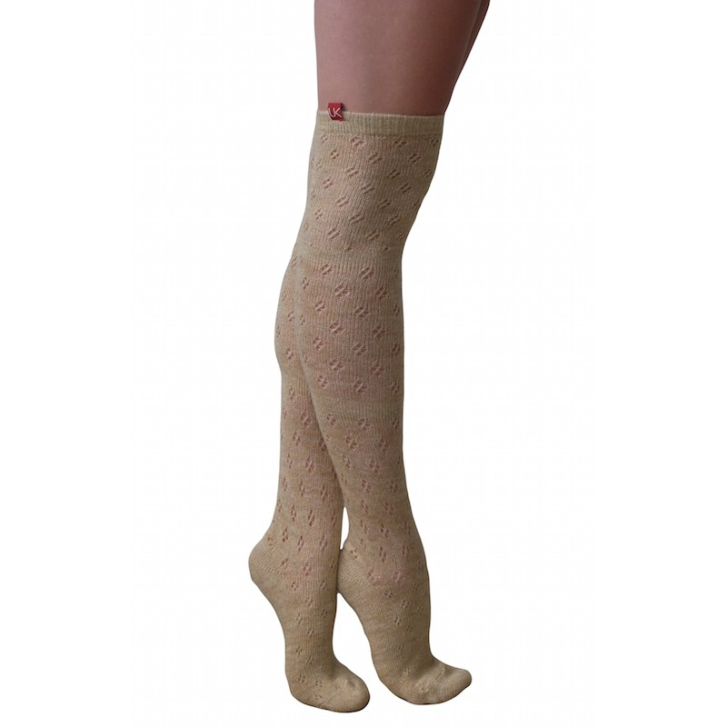 essexee legs pelerine over knee socks beige