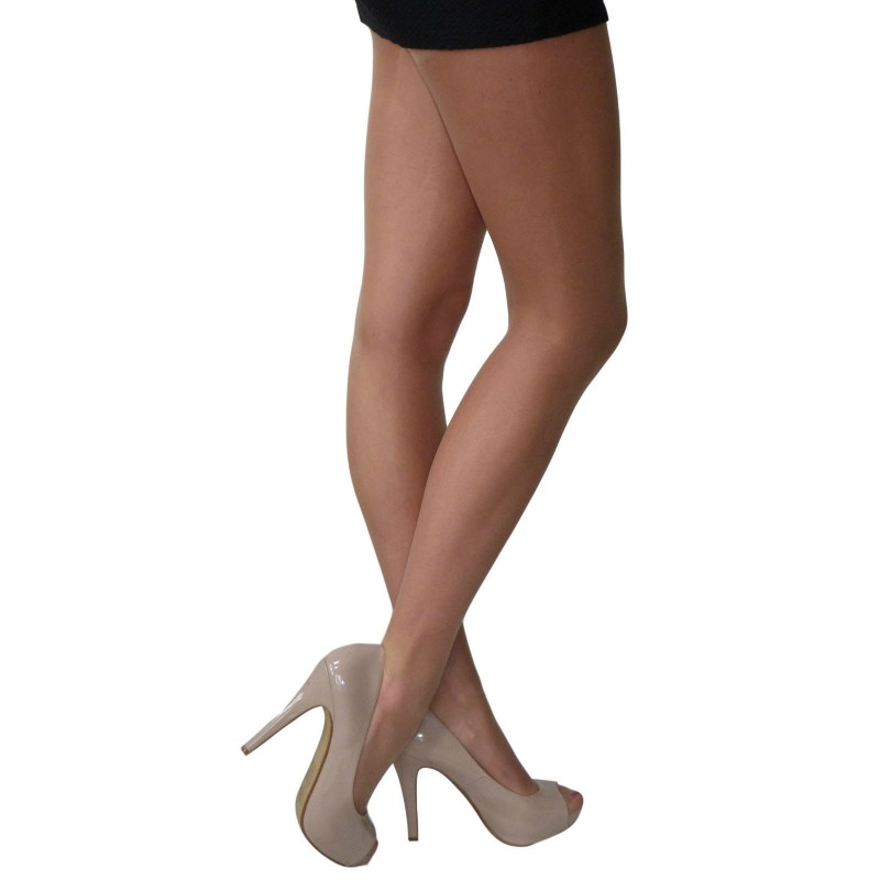 essexee legs sheer gloss tights natural tan