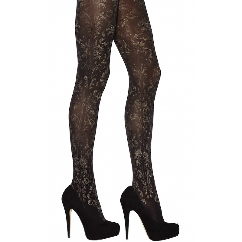 jonathan aston carnival floral lurex tights