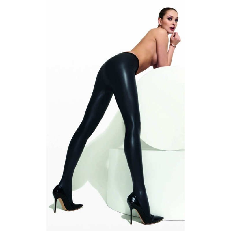 30344fb69 Details about Trasparenze Allen Faux Leather Tights. Black. 93% Polyester  7% Elastane. 1 Pair.
