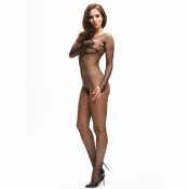 miss o fishnet open-crotch bodystocking
