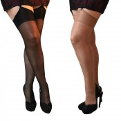 essexee legs plus size glossy stockings