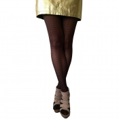 essexee legs chocolate herringbone fashion tights