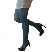 essexee legs teal 40 denier opaque tights plus size