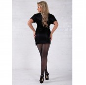 essexee legs lurex tights black-silver