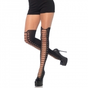 la7951 leg avenue all tied up tights with faux black boot