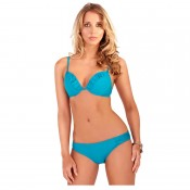 Underwired 2 piece bikini in teal blue or purple