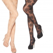 charnos floral sheer tights