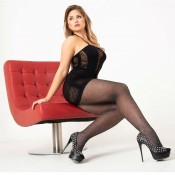 charnos mock lurex fishnet tights