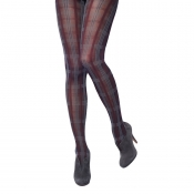 charnos plaid opaque tights