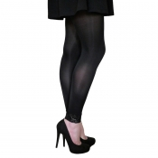 essexee legs opaque footless tights with lace cuff