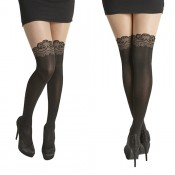 essexee legs scroll design over knee tights black-nude