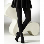 Snug and cosy opaque tights with velvet touch inside