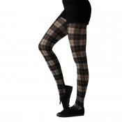 tartan bright beige tights