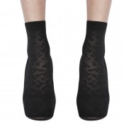 Cute animal print ankle ankle socks in black