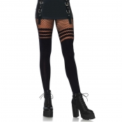 leg avenue opaque faux thigh high tights