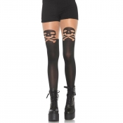 leg avenue spandex skull & crossbone tights