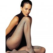 Black Fishnet Tights for taller ladies to 6ft1""