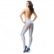 miss o open crotch pantyhose light blue