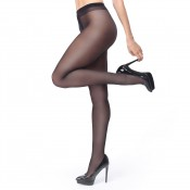 miss o black 40 denier open gusset gloss pantyhose