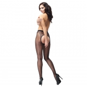 miss o seamed open crotch pantyhose