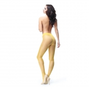miss o open crotch pantyhose yellow