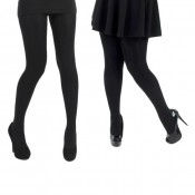 pamela mann 120 denier 3D black opaque tights