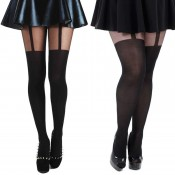 Plus size suspender tights UK 16-18, 20-26, 28-32