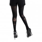 Fashion tights with a bruised and scuffed appearance