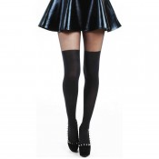 Tights with the look of over knee socks