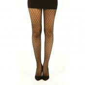 Stylish net lace tights in black, chocolate and natural