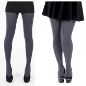 Thick opaque tights for one size and plus size.