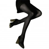 Stylish black tights with marl effect