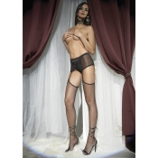 trasparenze zoia small fishnet strip panty